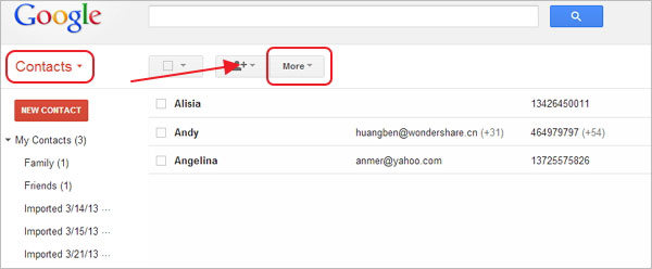 Check Gmail Contacts