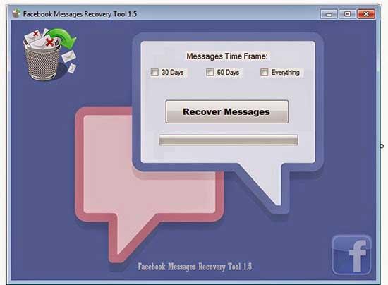 Facebookのメッセージの回復ツール