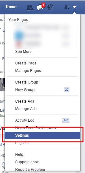 Facebookの設定