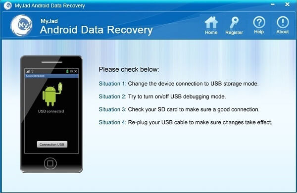 Récupération de données Android Myjad