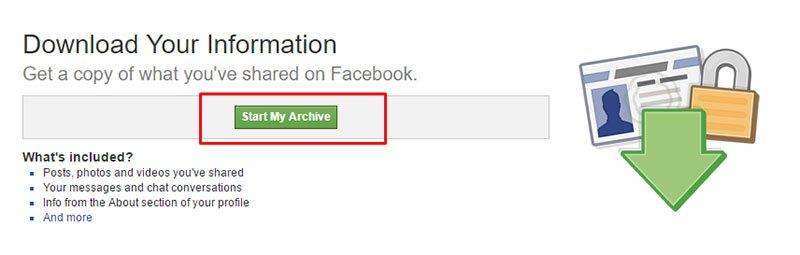 私のアーカイブを開始します
