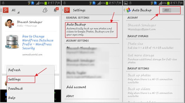 Turn off Backup on Samsung Galaxy S4