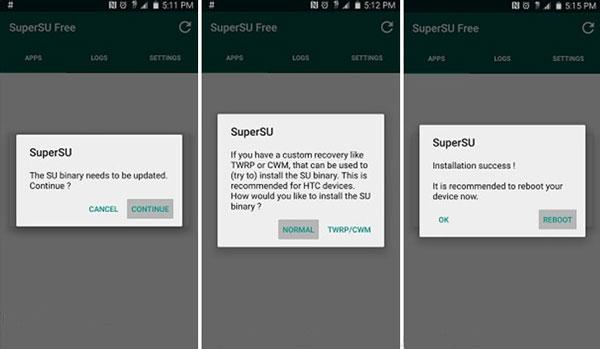 SuperSU Binary aktualisieren