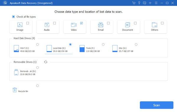 Wählen Sie Datenort