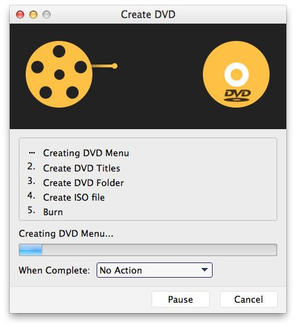 Create video to DVD