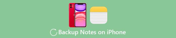 Notes de sauvegarde sur iPhone