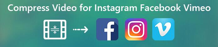 Komprimiere Video für Instagram Facebook und Vimeo