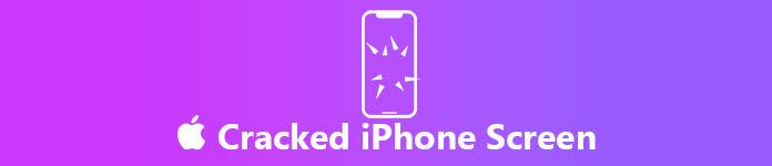 fissures de l'écran iPhone