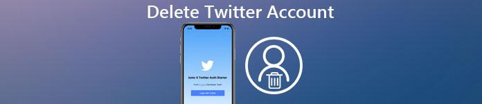 Twitterアカウントを削除