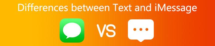 Forskjeller mellom tekst og iMessage