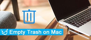 Leerer Papierkorb auf dem Mac