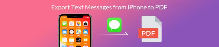 Exportieren Sie Textnachrichten vom iPhone nach PDF