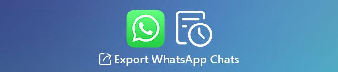 WhatsAppチャットをエクスポートする
