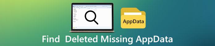 Rechercher les données d'application manquantes supprimées