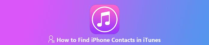 Comment trouver les contacts iPhone dans iTunes