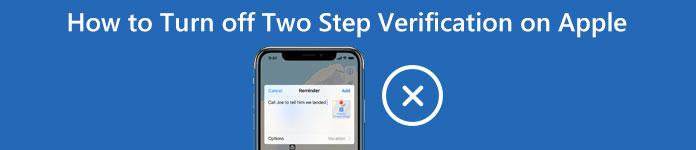 Supprimer la vérification en deux étapes sur les appareils Apple