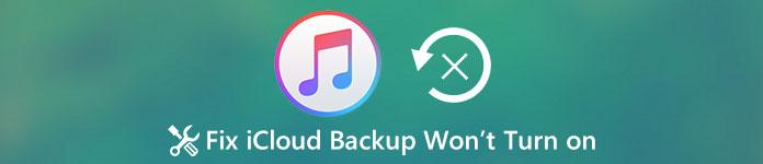 iCloud Backup ne s'allume pas