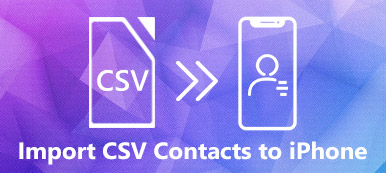 Importer des contacts CSV sur iPhone