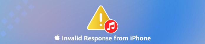 Correction de la réponse iTunes non valide