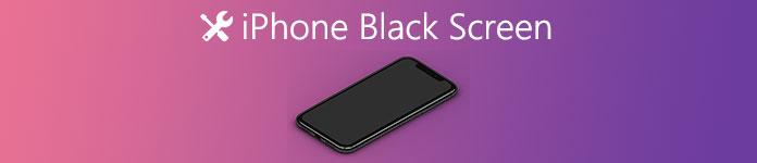 Schwarz iPhone-Bildschirm
