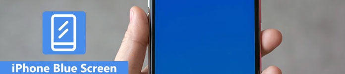 écran bleu iPhone