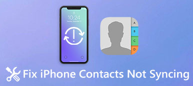 Les contacts de l'iPhone ne se synchronisent pas