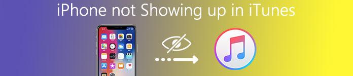 iPhone wird nicht in iTunes angezeigt