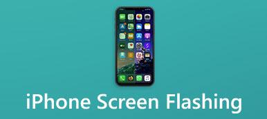 Écran d'iPhone clignotant