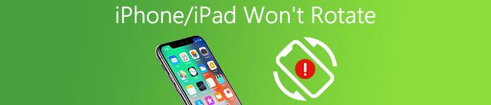 iPhone ne tourne pas