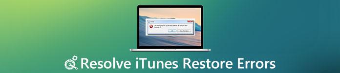 iTunesの復元エラー