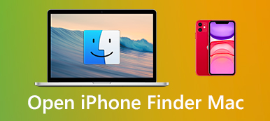 Open iPhone in Finder on Mac