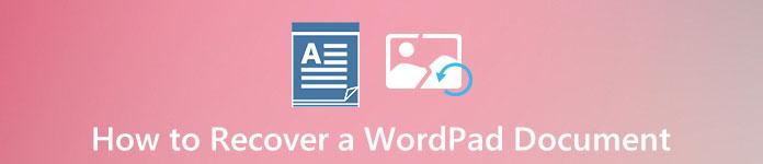 Восстановить документ Microsoft WordPad