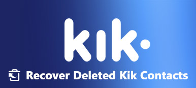how to recover deleted Kik contacts