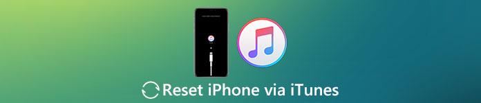 Réinitialiser l'iPhone avec iTunes