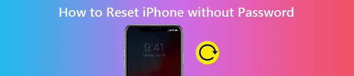 How do you reset an iphone 5 without password