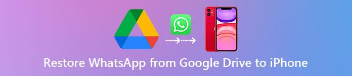 Restaurer WhatsApp de Google Drive sur iPhone