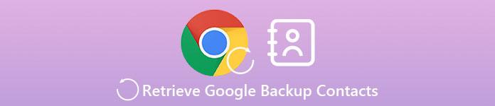 Récupérer les contacts de sauvegarde Google