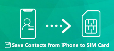 Enregistrer les contacts sur la carte SIM depuis l'iPhone
