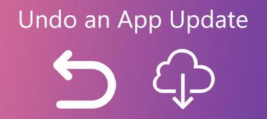 Annuler une mise à jour d'application