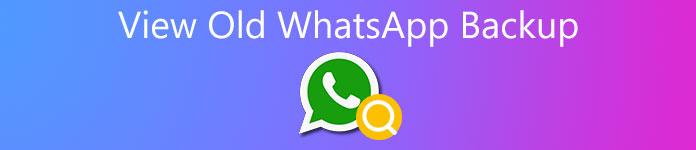 Voir l'ancienne sauvegarde WhatsApp