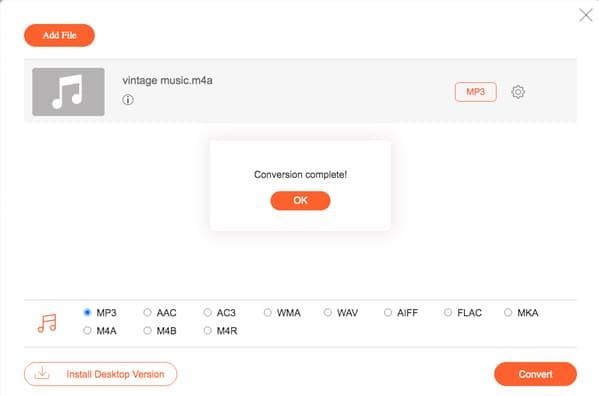 Conversion MP3 terminée
