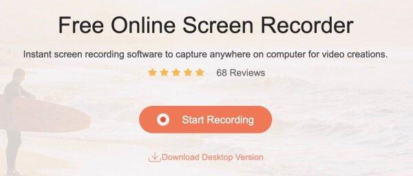 Apeaksoft Бесплатный онлайн рекордер экрана