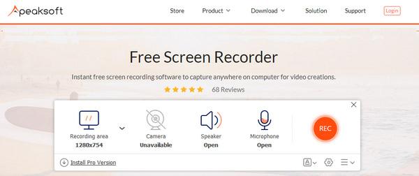 Apeaksoft Kostenloser Online-Bildschirmrekorder
