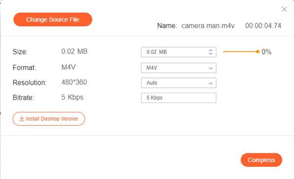 Compresser M4V en ligne