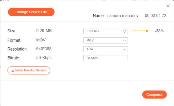MOVファイルをアップロード