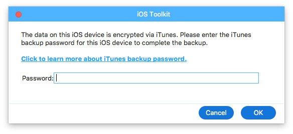 Geben Sie das iTunes-Passwort ein