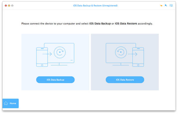 Starten Sie iOS Data Backup and Restore für Mac