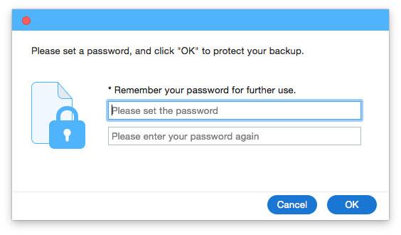 Définir un mot de passe pour protéger votre sauvegarde