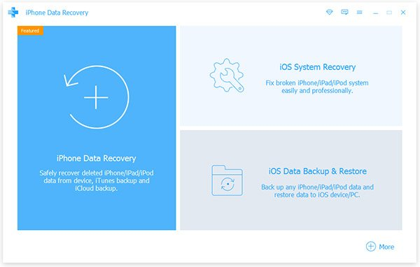 Starten Sie Apeaksoft iOS Data Backup and Restore