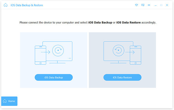 iOS Data Backup Restore Main Interface